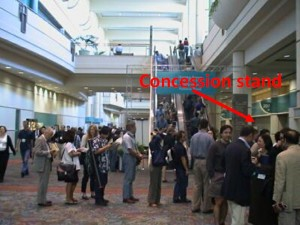 Typical concession stand, as observed at SfN 2002.