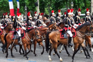 A cavalry parade, much like the one that inspired Purkinje and launched a thousand papers.