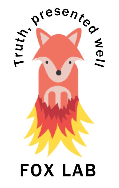 Fox lab logo white